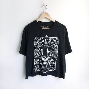Guns n' Roses Cropped Band Tee - size XL